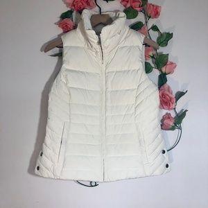 Talbots Petites Cream Puffer Vest
